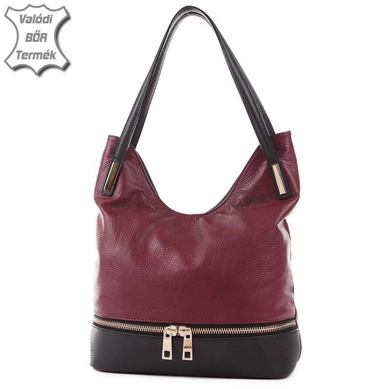 Bordó-sötétkék olasz bőr női táska  2111 d19893e0fa