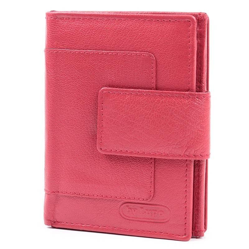 byLupo piros bőr női pénztárca