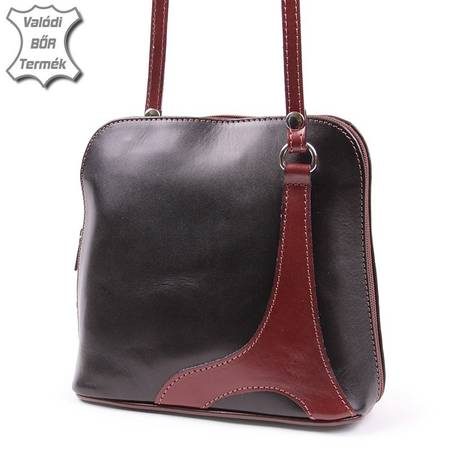 Barna olasz bőr női táska
