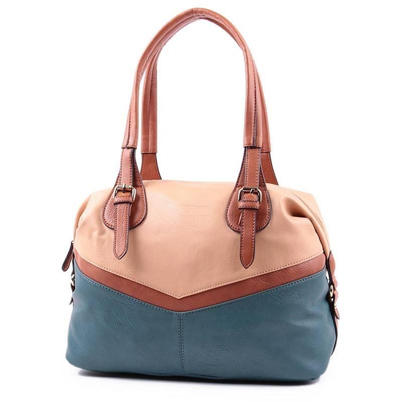 62544ebc3dff Chenson barna-türkizzöld női táska #2324