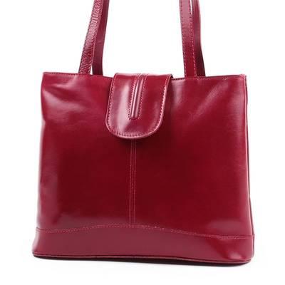 Piros olasz bőr női táska