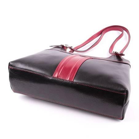 Fekete-bordó női bőr táska  2409 892665ce59