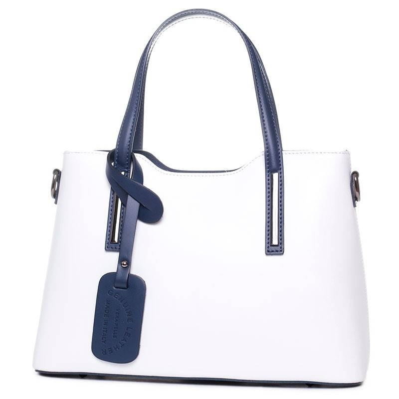 Fehér-kék olasz bőr női táska  2494 bb8f900c37