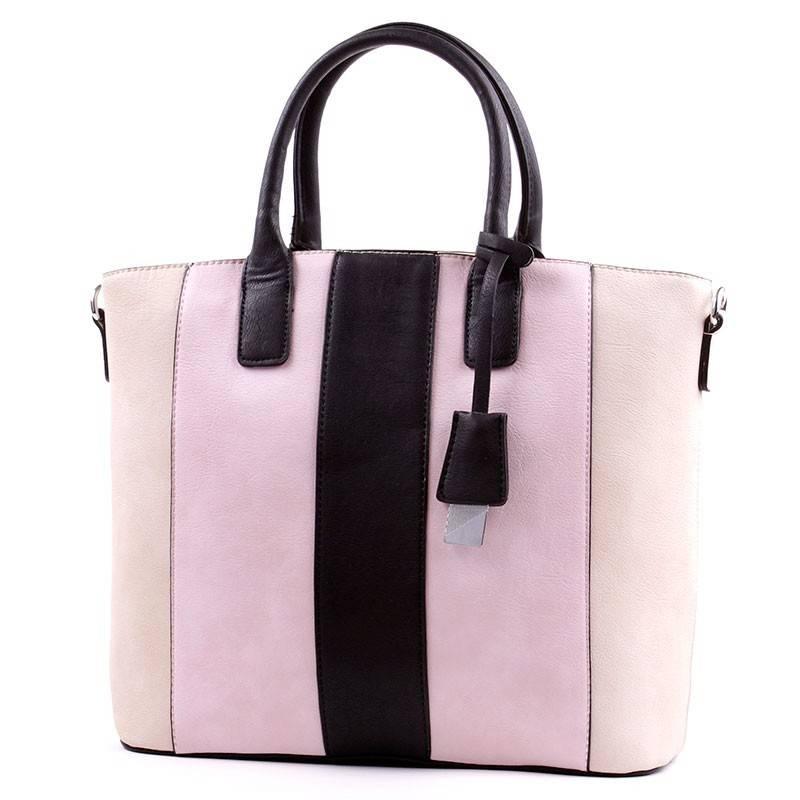 Lida bézs-rózsaszín-fekete női táska  2662 466eb8bd78