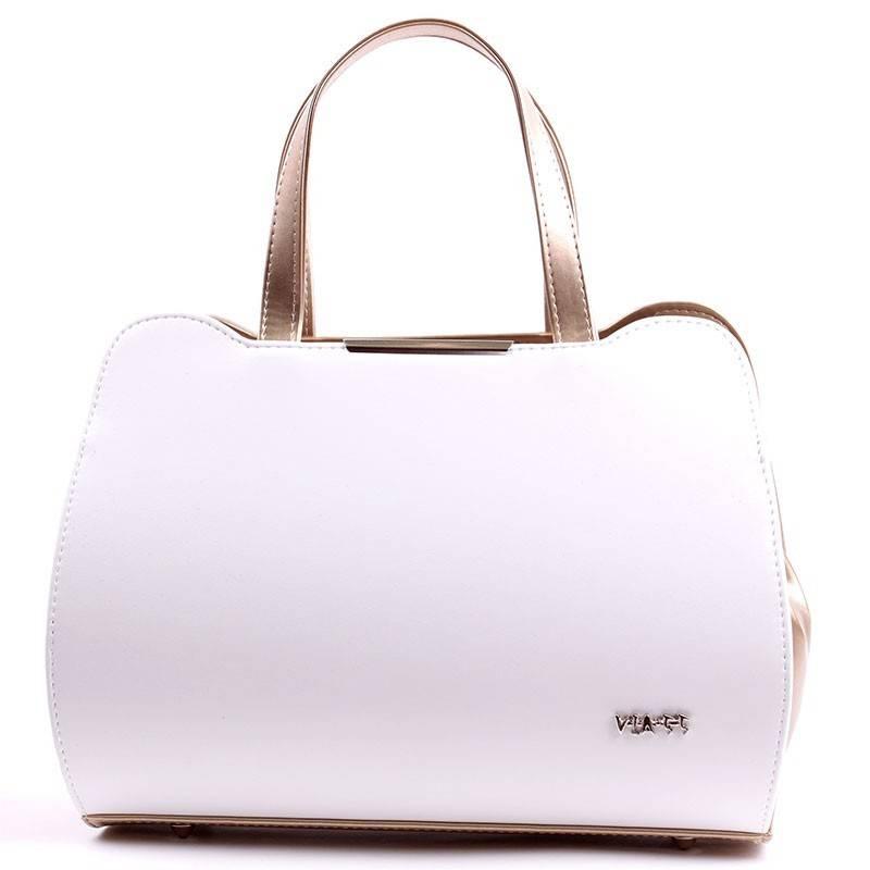 83ec8a87c8 Via55 fehér-arany rostbőr női táska #2677
