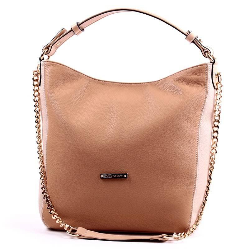 Velina Fabbiano barna-bézs divatos női táska