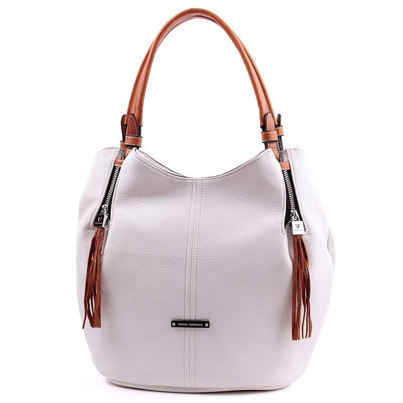 f82223f59031 Velina Fabbiano fehér divatos női táska #2704