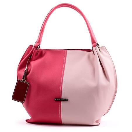 cba80383ac21 Velina Fabbiano piros-rózsaszín divatos női táska #2714