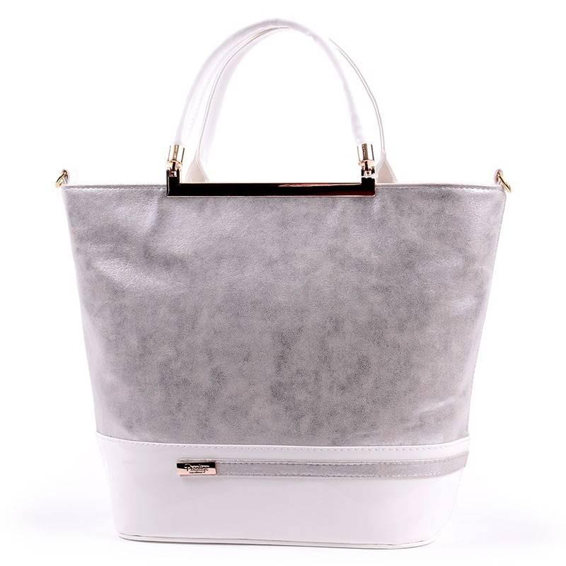 Prestige fehér-ezüst női rostbőr táska  2739 8436b8c857