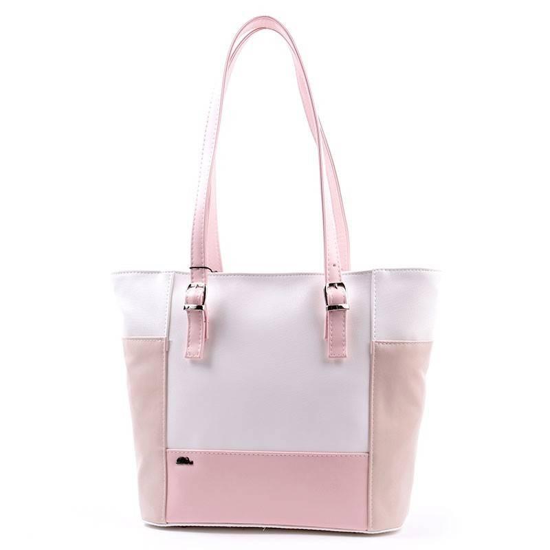 9e5d62c02429 Diva Collection fehér-bézs-rózsaszín női táska #2738