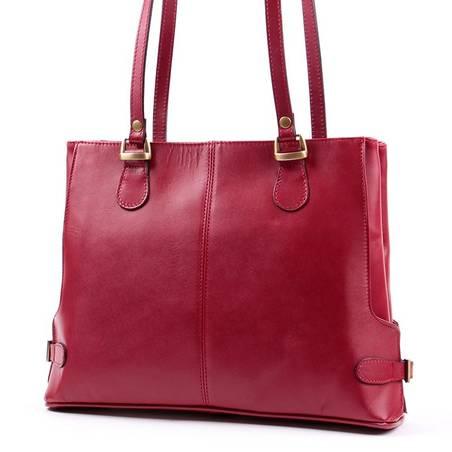 Bordó női olasz bőr táska