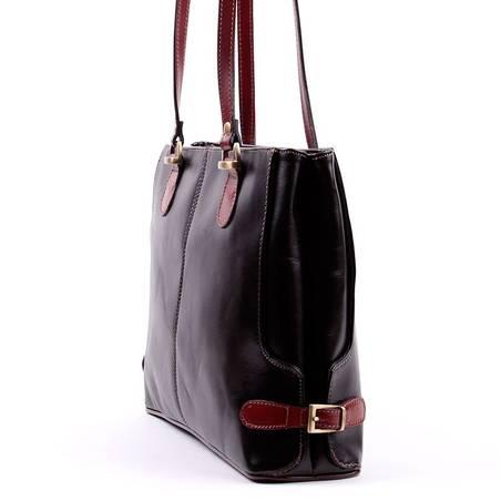 Fekete-barna női olasz bőr táska  2757 cf8777d3fc