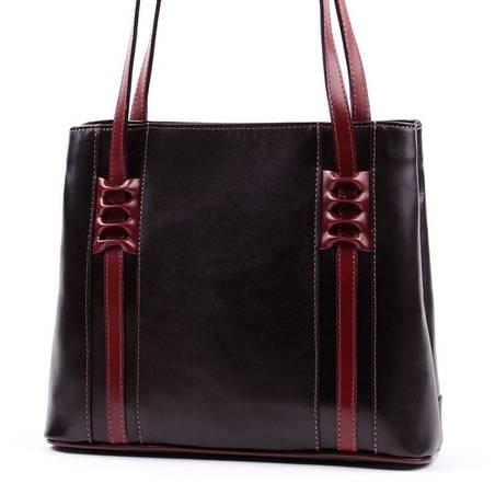Fekete-barna olasz bőr női táska