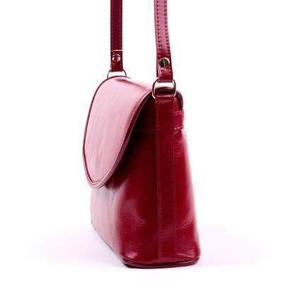 Piros női bőr táska