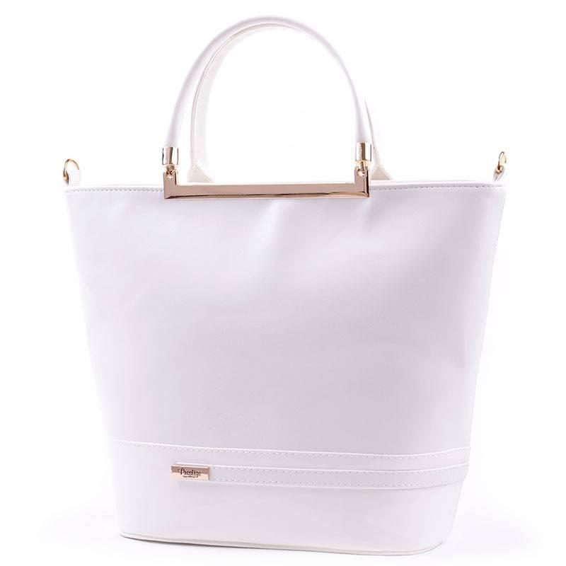 7dbc13b82e4f Prestige fehér női rostbőr táska #2770