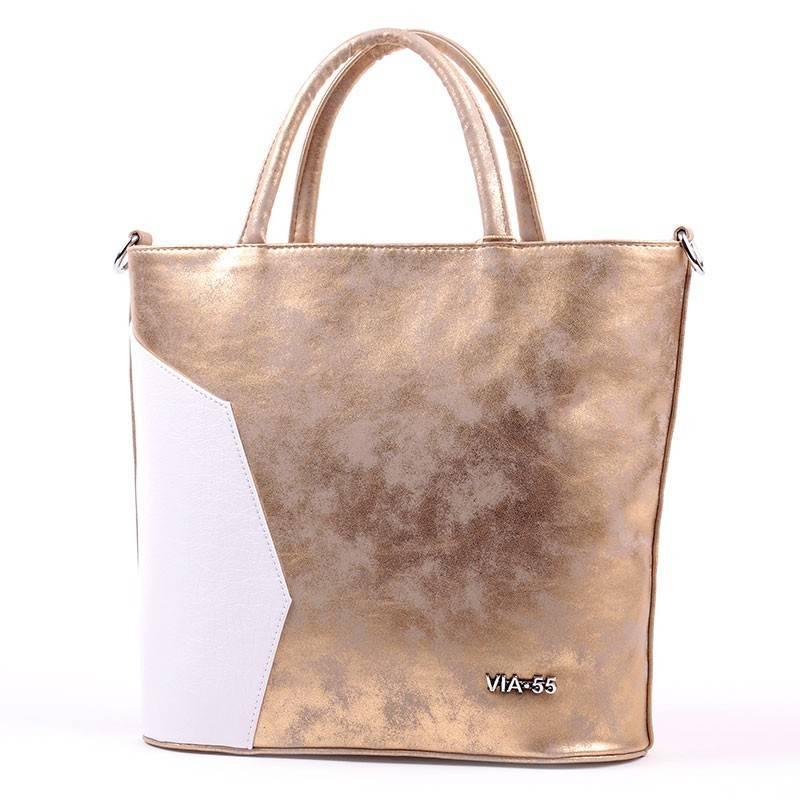 Via55 arany-fehér női rostbőr táska  2752 add7fc690a