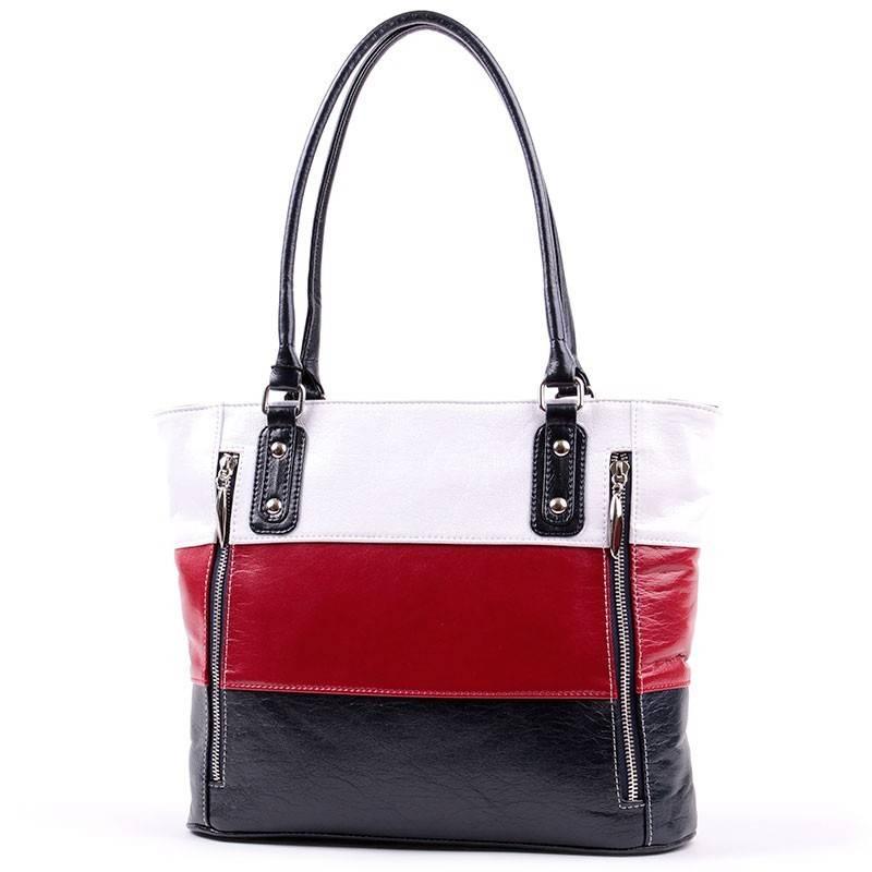 Karen kék-piros-fehér női rostbőr táska  2805 ffc8e00e30