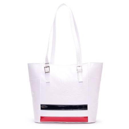Diva Collection fehér-piros-kék női táska