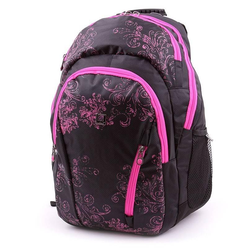 Budmil fekete-pink hátizsák