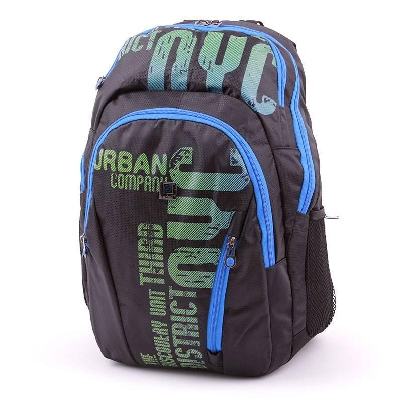 Budmil fekete-kék-zöld hátizsák