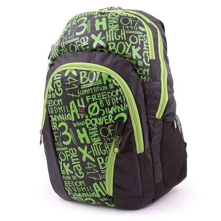 Budmil fekete-zöld hátizsák