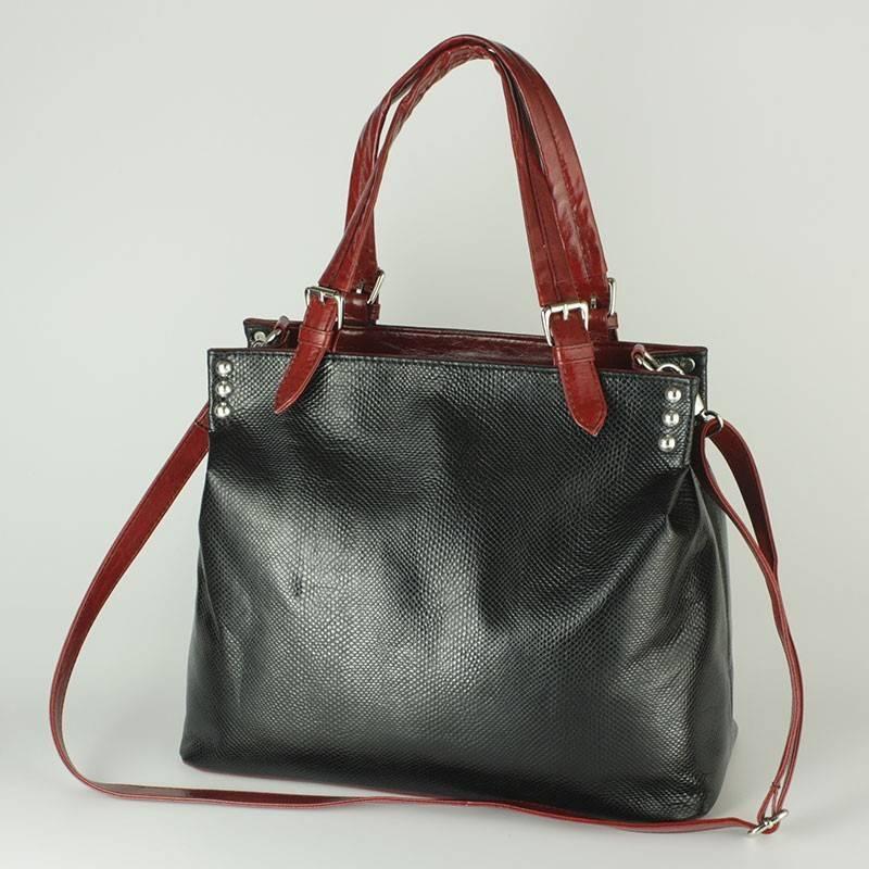 f8b444d6c4 Karen fekete nagy méretű női rostbőr táska #299