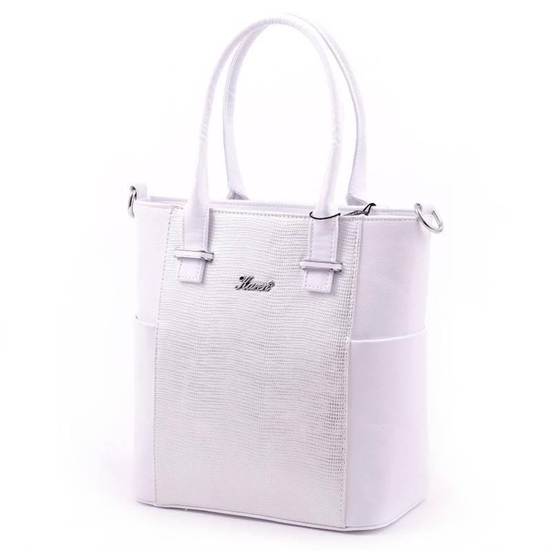 c0a580e28360 Karen fehér-ezüst női rostbőr táska #2940