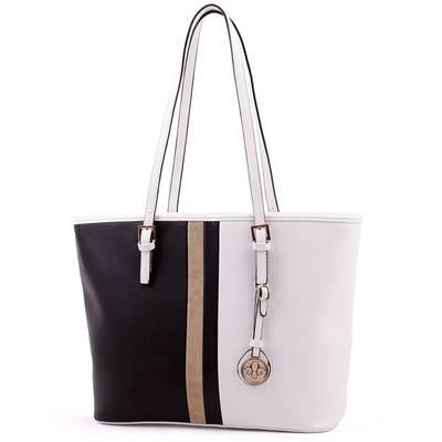 Run Fa fehér-fekete női táska