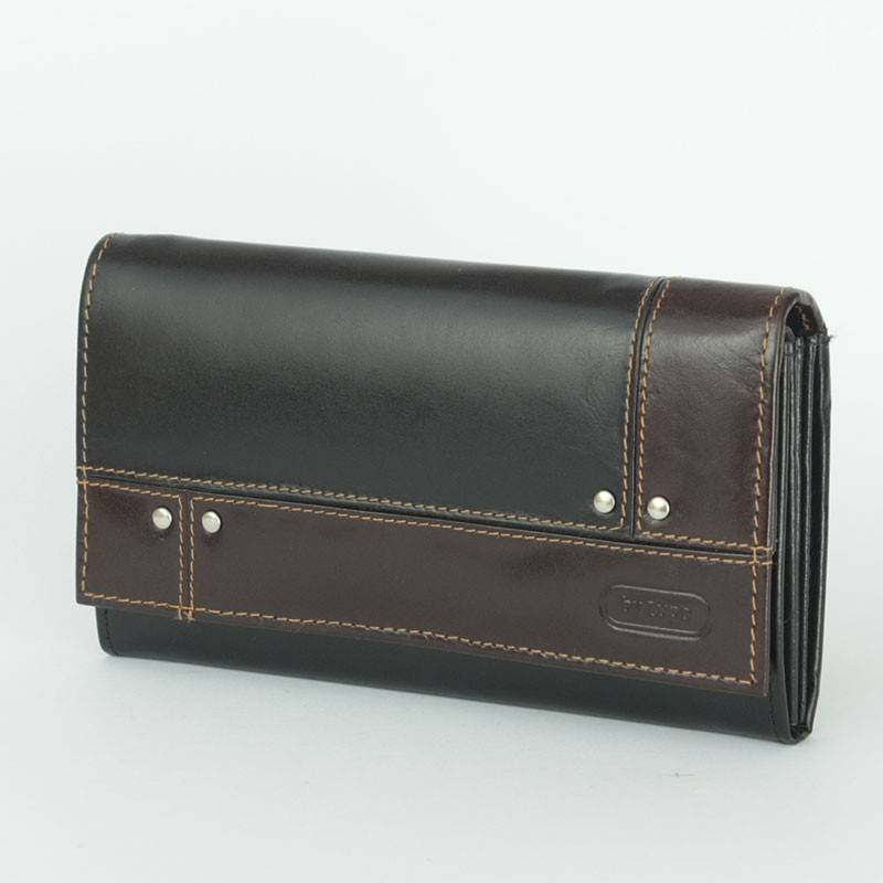 ByLupo fekete-barna bőr pénztárca