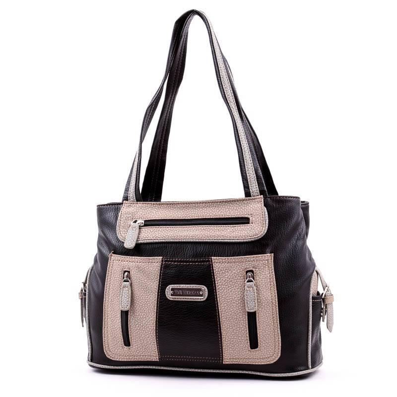Hernan Bag s Collection fekete-barna női táska  3039 6f3ae60320