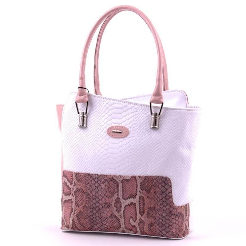 5acf2cd2640c Diva Collection fehér-púder rostbőr női táska #3021