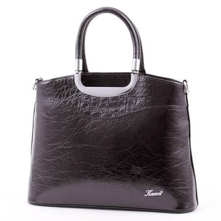 Karen fekete merev falú női rostbőr táska