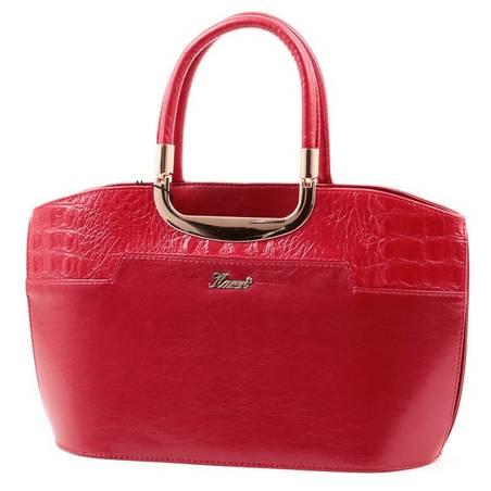 Karen piros merev falú női rostbőr táska