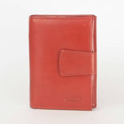 byLupo női piros bőr pénztárca
