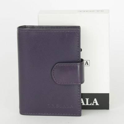 La Scala lila bőr kártyatartó