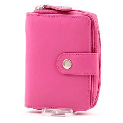 Pink női bőr pénztárca