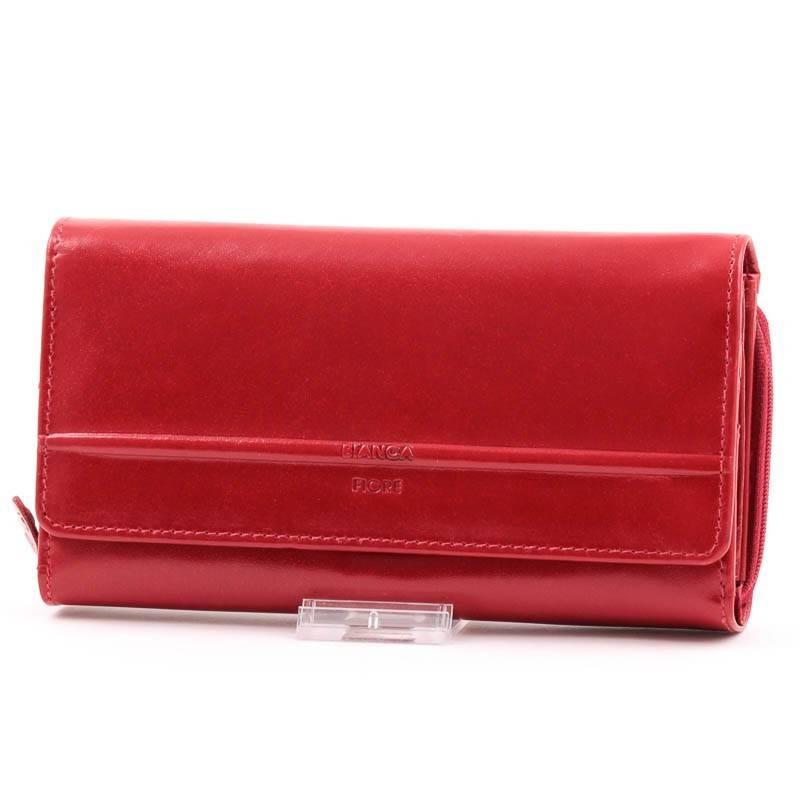 Bianca Fiore byLupo piros bőr női pénztárca