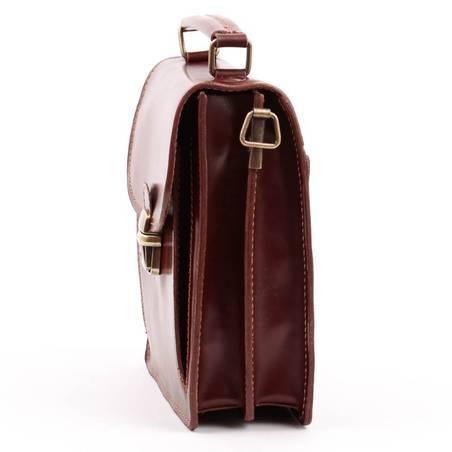 070a44d3aa80 Álló fazonú, barna bőr férfi táska #3168