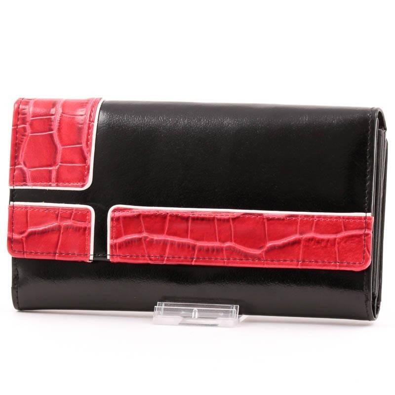 ByLupo fekete-piros bőr pénztárca