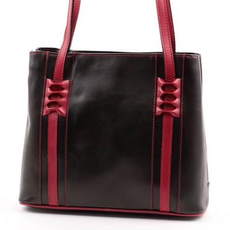 Fekete-bordó olasz bőr női táska
