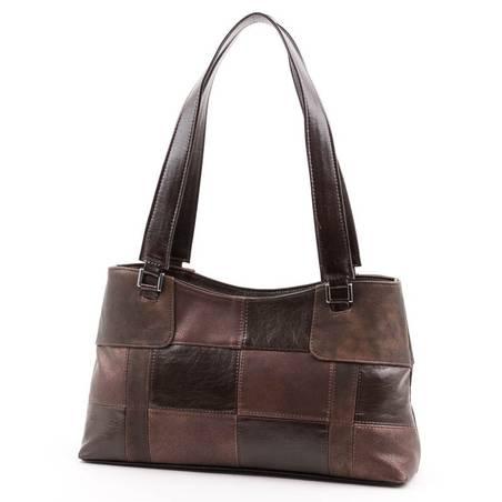 Karen barna-bronz női rostbőr táska