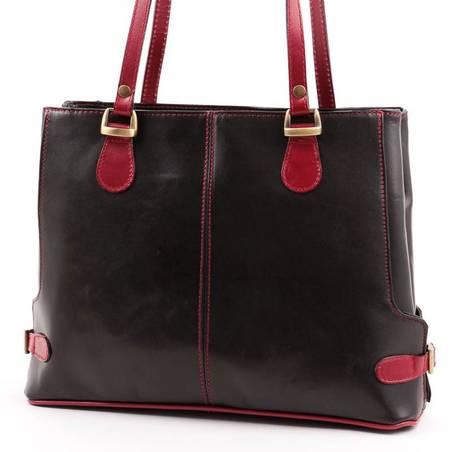Fekete-bordó női olasz bőr táska