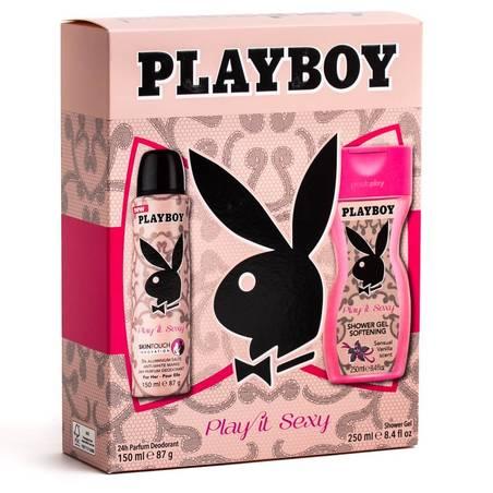 Playboy Play it Sexy Női Ajándékcsomag: Parfüm Dezodor 150 ml + Tusfürdő 250 ml