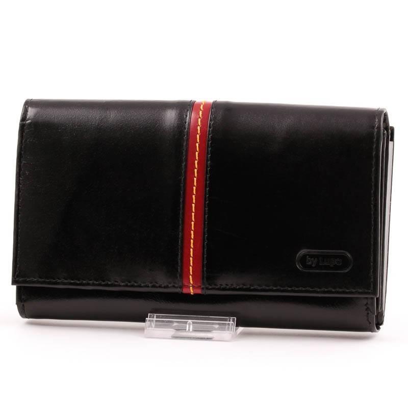ByLupo fekete-piros női bőr pénztárca