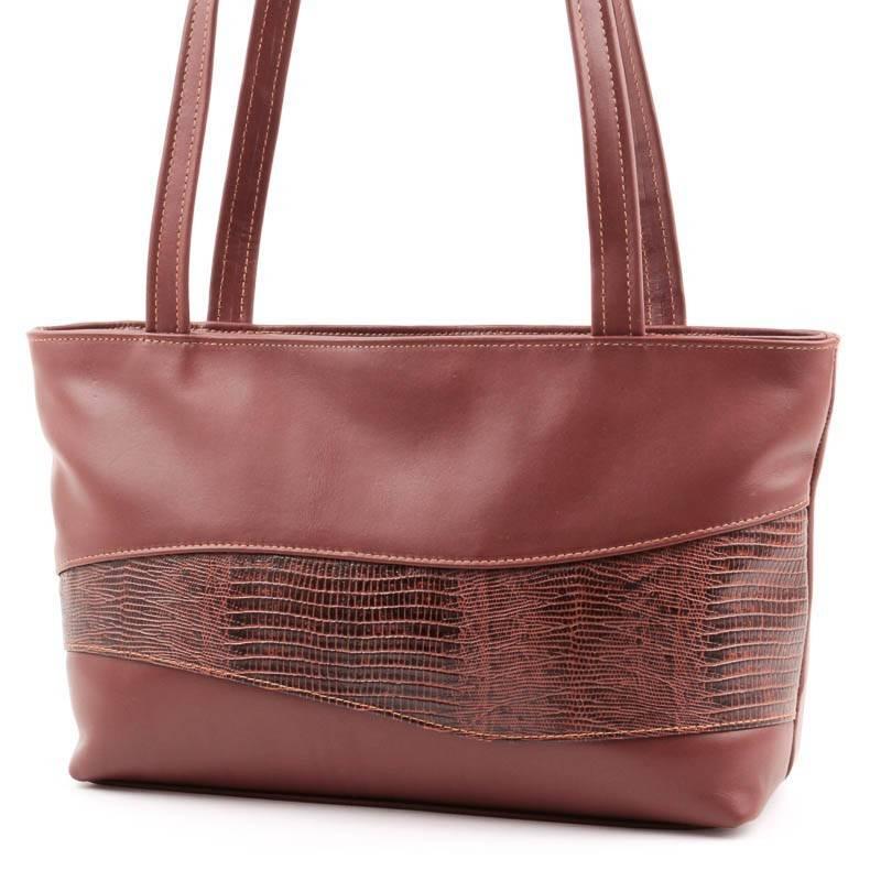 Barna női bőr táska