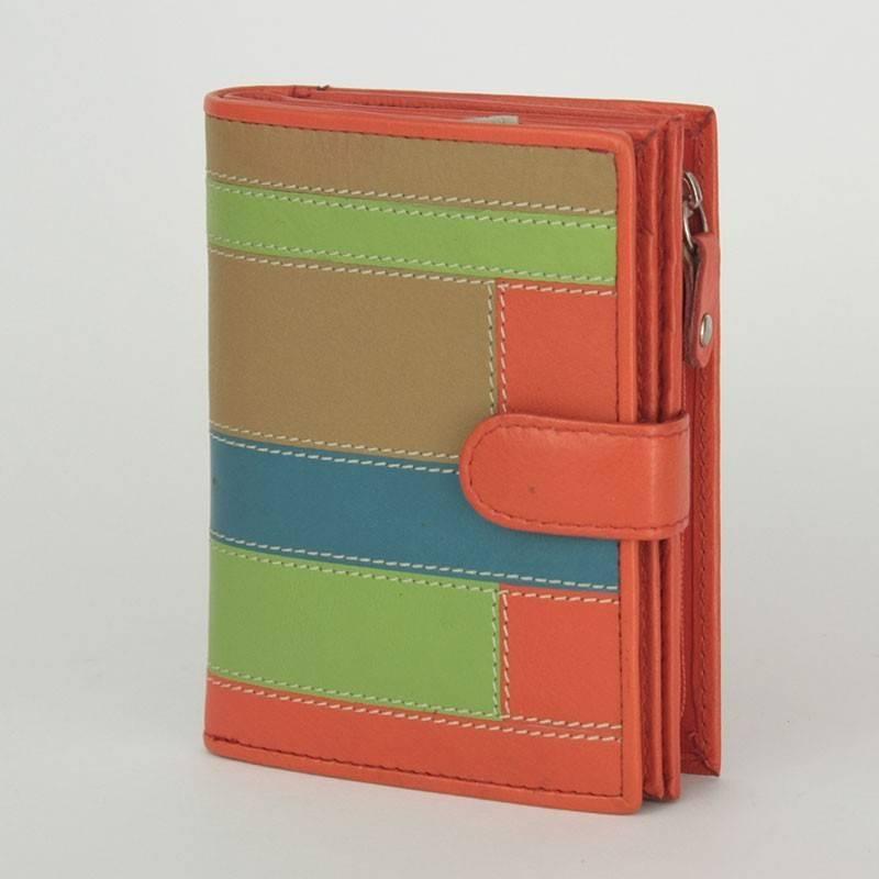 ByLupo piros-színes bőr pénztárca