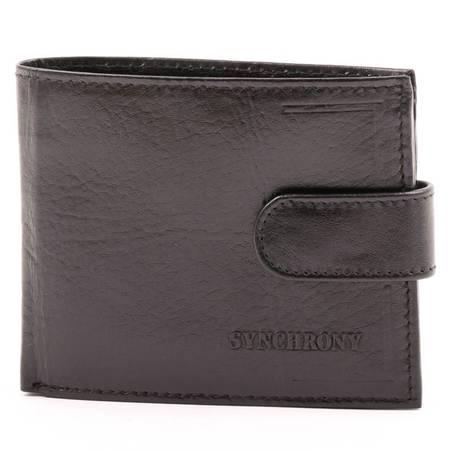 Synchrony férfi fekete bőr pénztárca