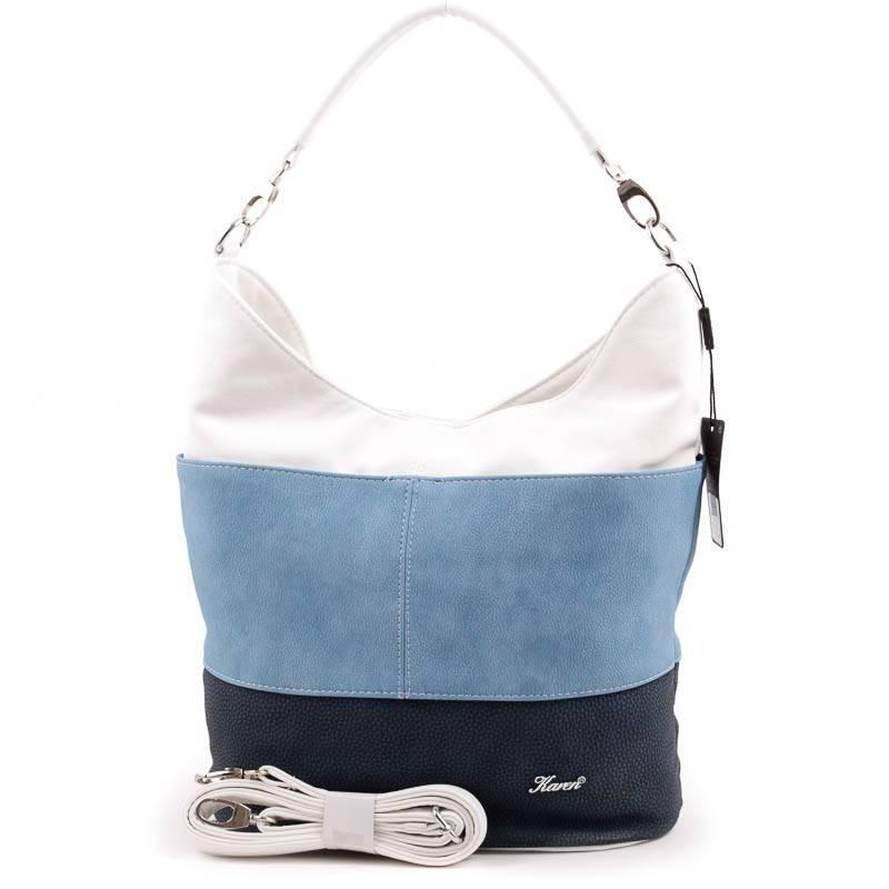 Karen kék-fehér rostbőr női táska  3504 2266d48094