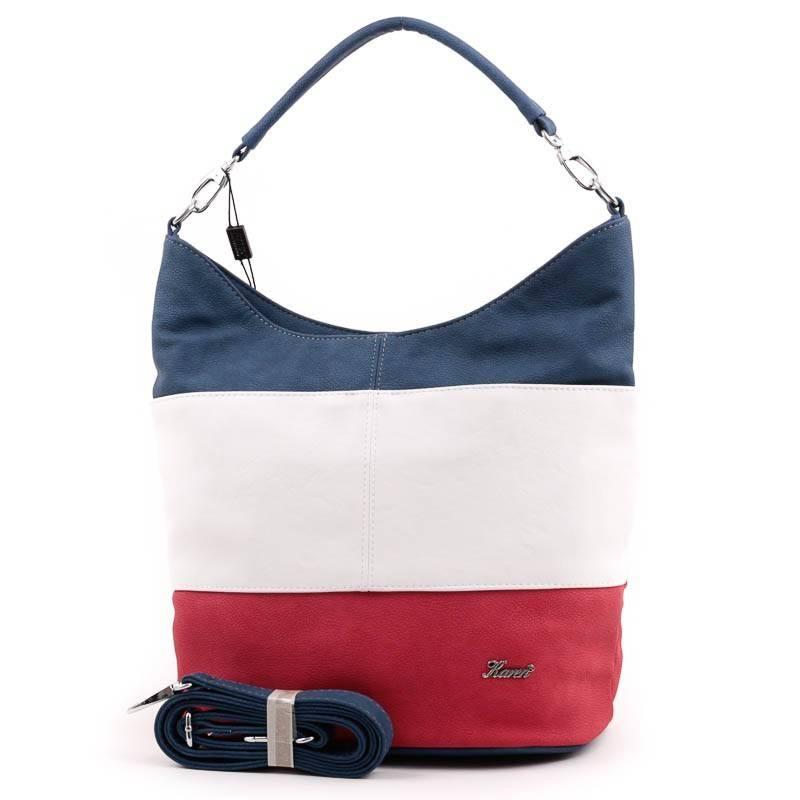 Karen kék-fehér-piros rostbőr női táska  3506 18a607bd6a