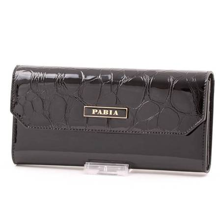 Pabia fekete női bőr pénztárca